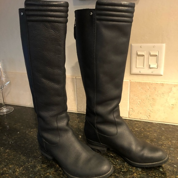 Danica Tall Womens Black Leather Boots